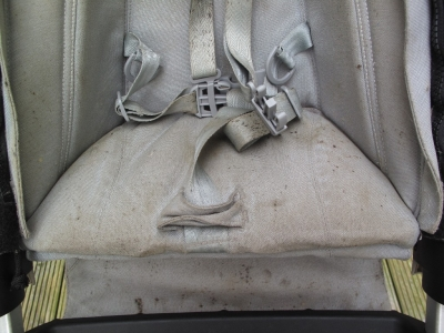 Joolz Pushchair seat before mould treatment & steam clean
