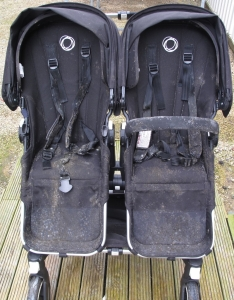 Mouldy Bugaboo Donkey before safe mould treatment & steam clean