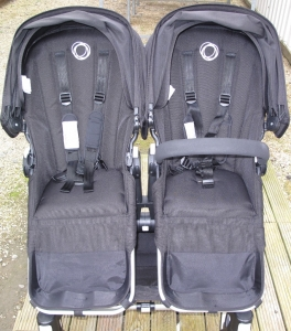 Mouldy Bugaboo Donkey before after mould treatment & steam clean