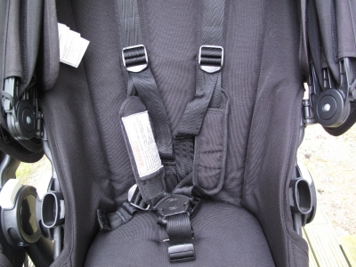 Mouldy Bugaboo harness straps after clean
